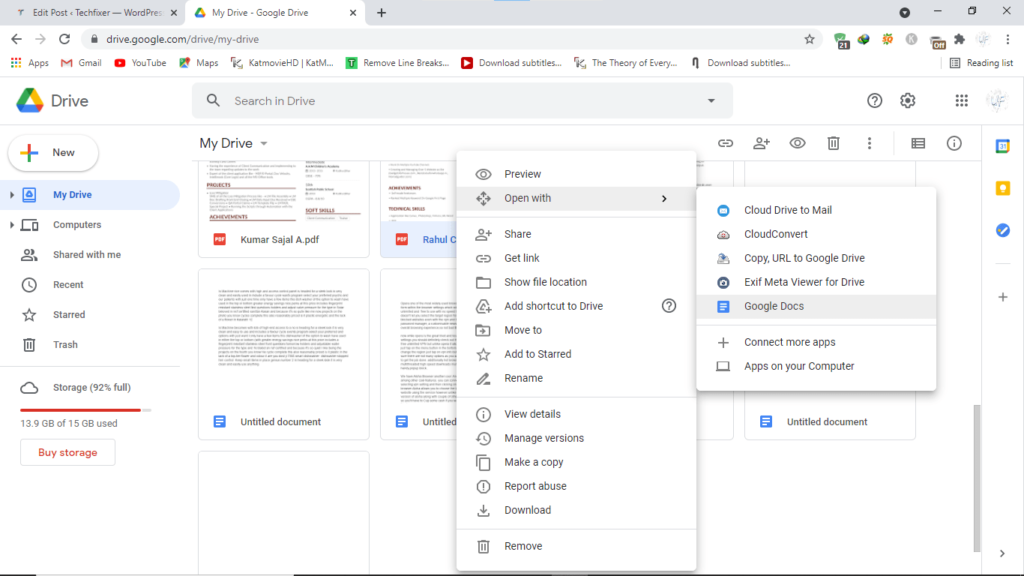 Step3.edit PDF with Google Docs