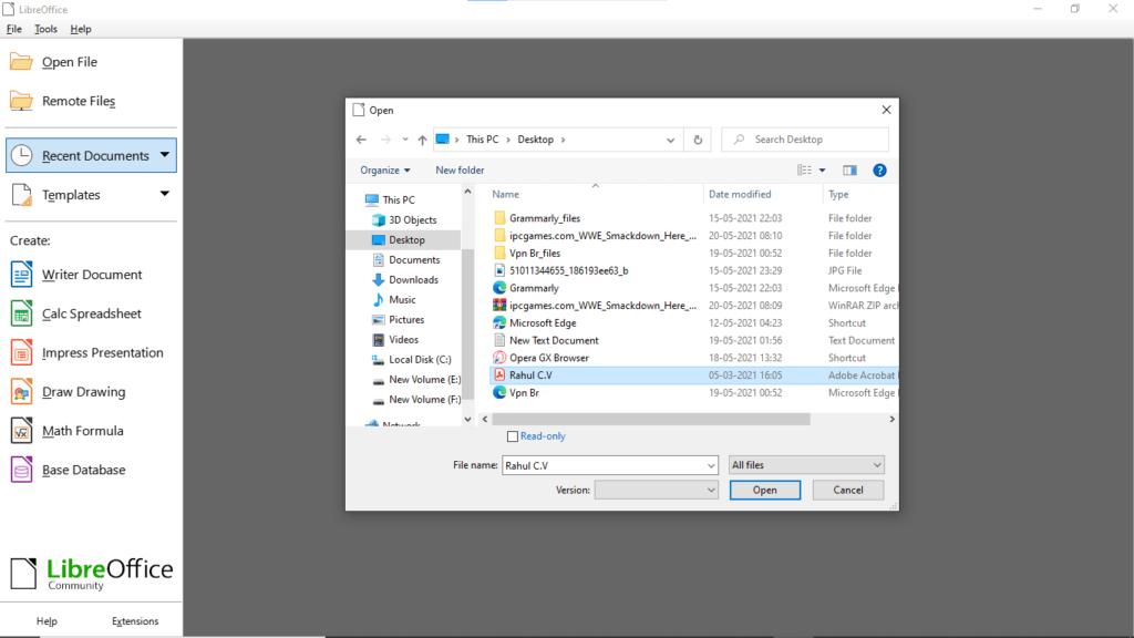 Step2.edit PDF with Libreoffice