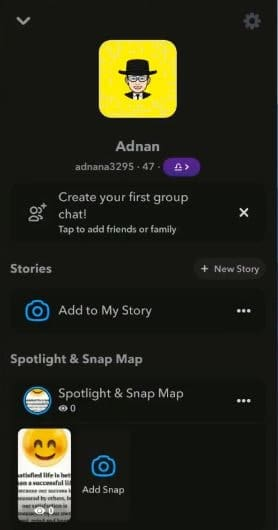 Step7.How to get dark mode on Snapchat