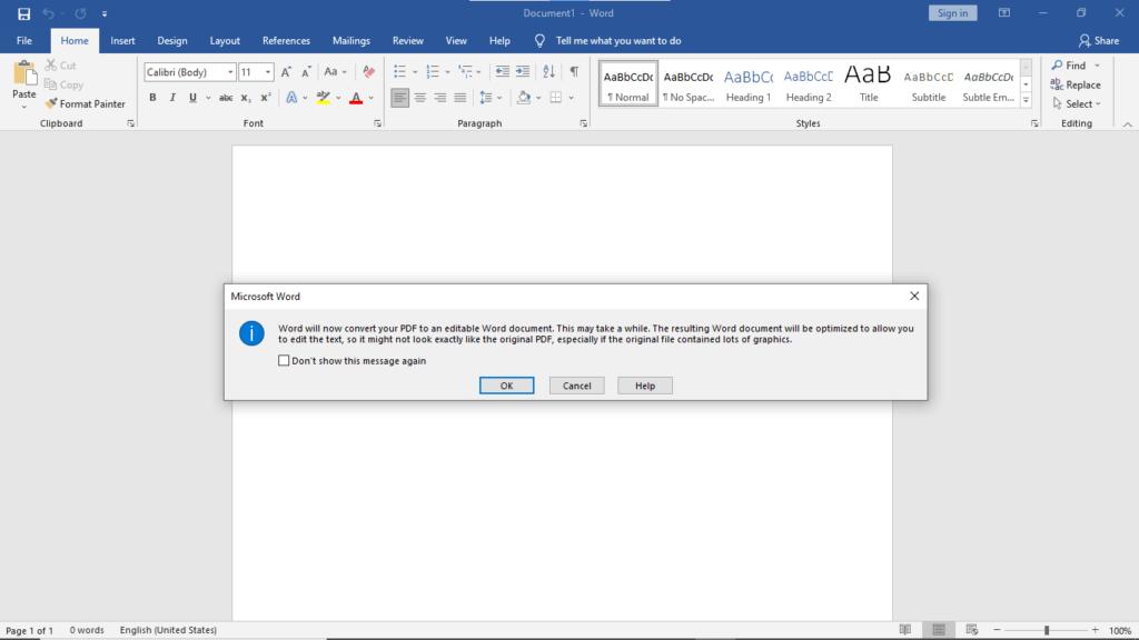 Step3.Edit PDF with Microsoft Word