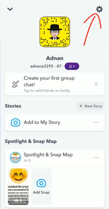 Step4.How to get dark mode on Snapchat