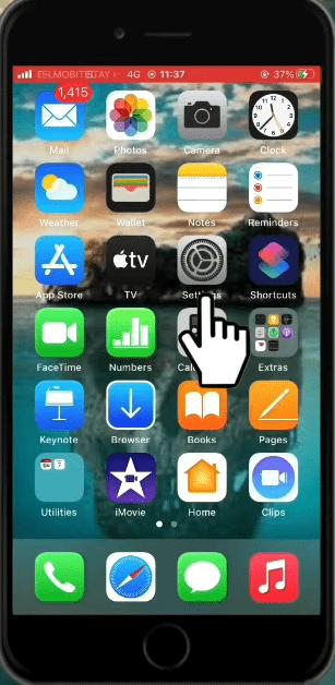 How to remove Calendar Virus iPhone Step1