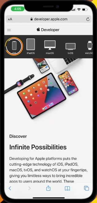 Step4->How To Get iOS 15