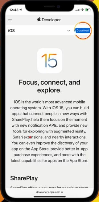 Step5->How To Get iOS 15