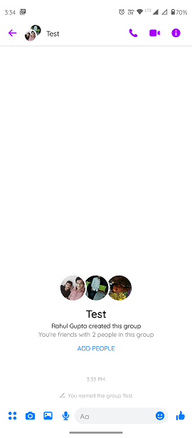 Step2.)How to create a poll on Facebook Messenger