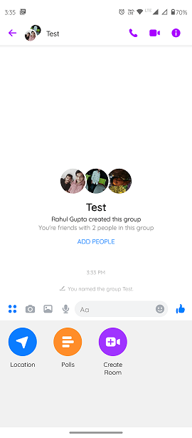 Step4.)How to create a poll on Facebook Messenger