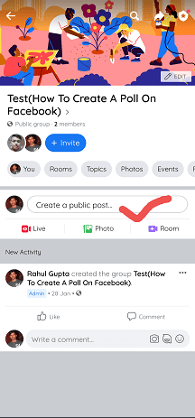 How to Post on Facebook App