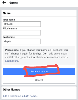 How to Change Your Name on Facebook on Facebook App