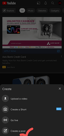 How to Make a Poll on YouTube App or Android