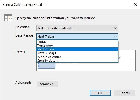 How to Share Calendar In Outlook through Email